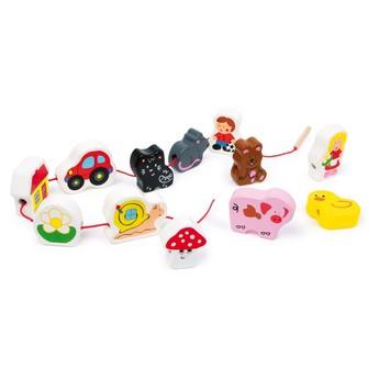 Motorické a didaktické hračky - Navlékací korále - Zvířata