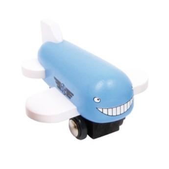 Pro kluky - Dřevěné letadlo - modré