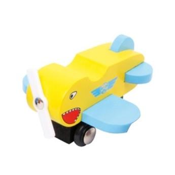 Dřevěné letadlo - žluté