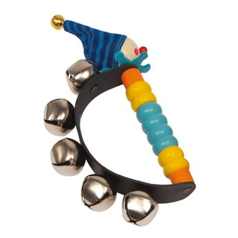 Dětské hudební nástroje - Chrastítko Klaun - modrý