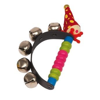 Dětské hudební nástroje - Chrastítko Klaun - červený