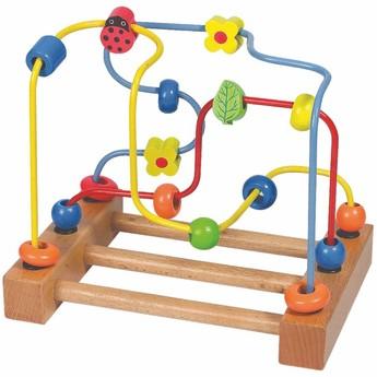 Motorické a didaktické hračky - Motorický labyrint Beruška, kytka