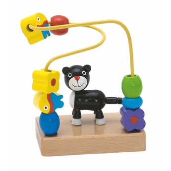 Motorické a didaktické hračky - Motorický labyrint mini - kočka