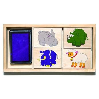 Výtvarné a kreativní hračky - Dětská razítka Zvířátka
