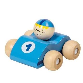 Pro kluky - Dřevěná závodnička - světle modrá