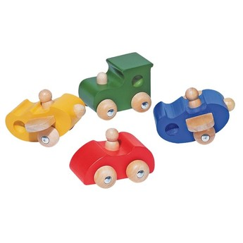 Pro kluky - Dřevěný dopravní prostředek - mašinka MIX BAREV
