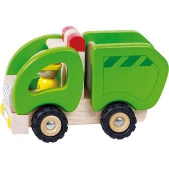 Dřevěné popelářské autíčko