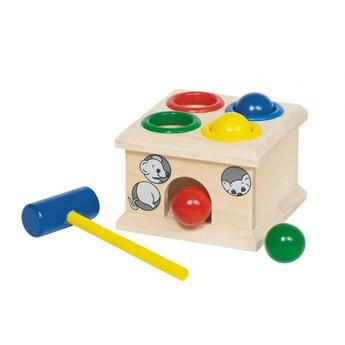 Motorické a didaktické hračky - Dřevěná zatloukačka – Myšky