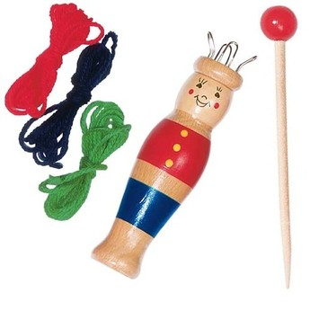 Výtvarné a kreativní hračky - Pletací panák s dřevěnou jehlou