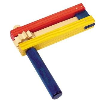 Dětské hudební nástroje - Barevná dřevěná řehtačka II