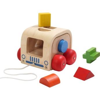 Motorické a didaktické hračky - Auto vkládačka - tvary