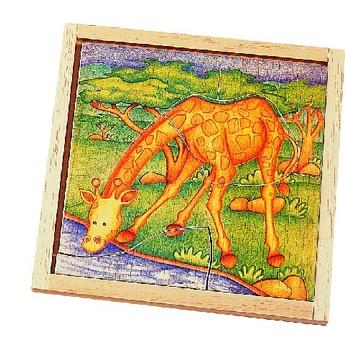 Puzzle - Dřevěné puzzle ŽIRAFA
