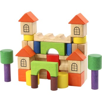Kostky a stavebnice - Dřevěné stavební kostky