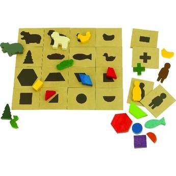 Motorické a didaktické hračky - Tvary a stíny - vkládačka