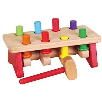 Motorické a didaktické hračky - Zatloukačka kolíky kloubová