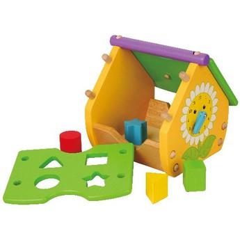 Motorické a didaktické hračky - Vkládačka domeček
