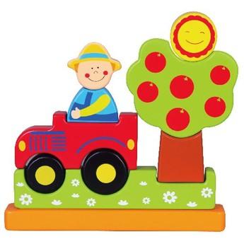 Puzzle - Magnetická skládačka - traktor