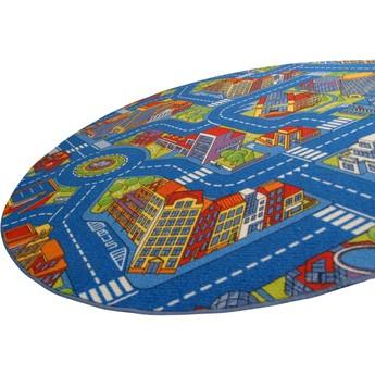 Dětský pokojíček - Dětský koberec - Město průměr 150 cm