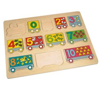 Puzzle - Puzzle - vlak čísla