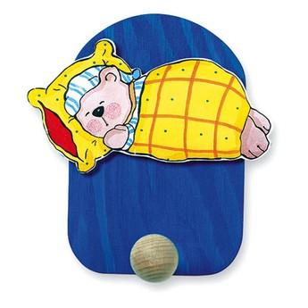 Dětský pokojíček - Věšák spící medvěd - 1 háček