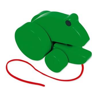 Pro nejmenší - Tahací žába - zelená