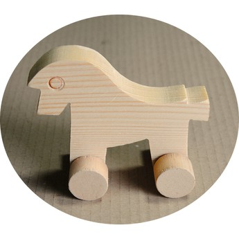 Hračka na kolečkách - Kůň