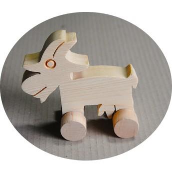 Pro nejmenší - Hračka na kolečkách - Koza