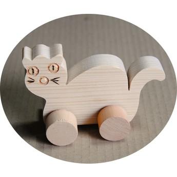 Pro nejmenší - Hračka na kolečkách - Kočka
