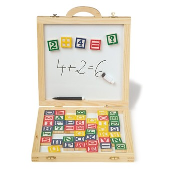 Školní potřeby - Magnetická tabule v kufříku s písmenky