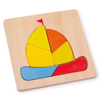 Puzzle - Vkládací puzzle - Plachetnice
