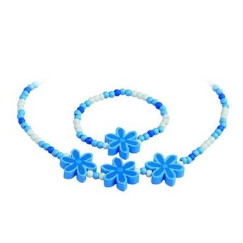 Pro holky - Bižuterní sada kytičky modré