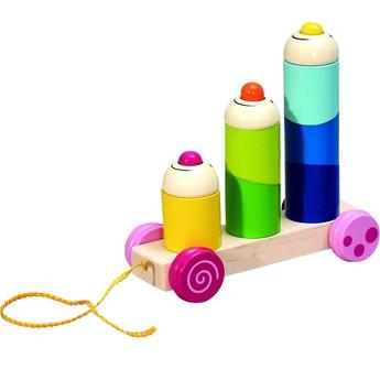 Pro nejmenší - Tahací hračka nasazovaní na tyče Klauni