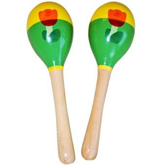 Dětské hudební nástroje - Dřevěné marakasy - zelené