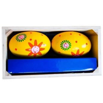 Dětské hudební nástroje - Marakasy vajíčka - žluté