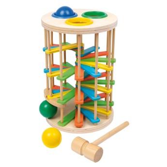 Motorické a didaktické hračky - Zatloukací věž velká