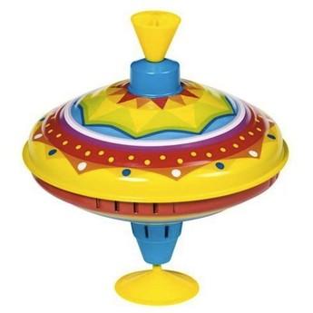 Plechové hračky - Hrající káča abstrakt