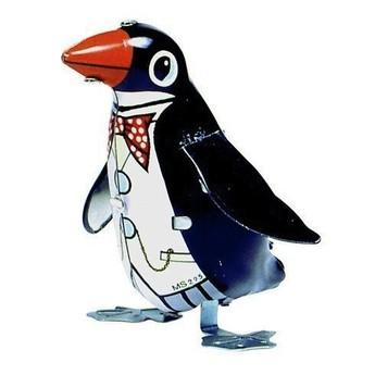 Plechové hračky - Tučňák