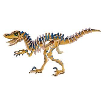3D Puzzle - Velociraptor barevný