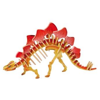 Puzzle - 3D Puzzle - Stegosaurus barevný