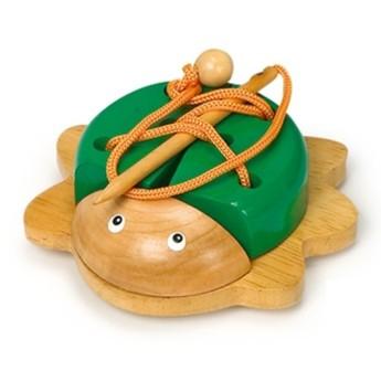 Motorické a didaktické hračky - Provlékací brouček - zelený