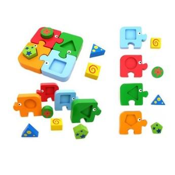 Motorické a didaktické hračky - Puzzle - geometrické tvary