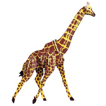 3D Puzzle - Žirafa barevná
