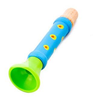 Dětské hudební nástroje - Dřevěná píšťalka - modrá