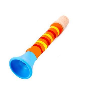 Dětské hudební nástroje - Dřevěná píšťalka - oranžová