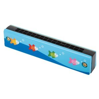 Dětské hudební nástroje - Foukací harmonika Rybičky