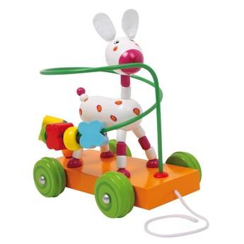Motorické a didaktické hračky - Motorický labyrint Oslík