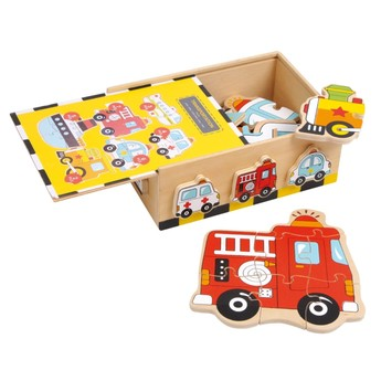 Puzzle v krabičce Vozidla