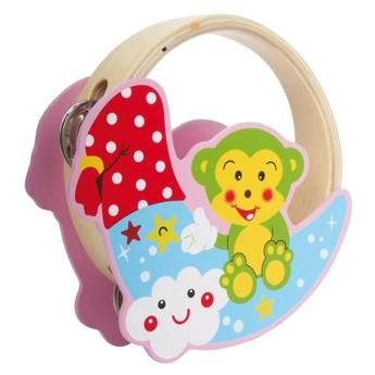 Dětské hudební nástroje - Tamburína Opička
