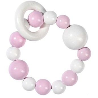 Pro nejmenší - Elastická hračka do ruky, růžová bílá