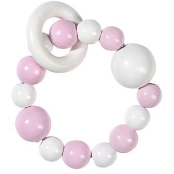 Elastická hračka do ruky, růžová bílá